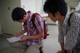 神戸市営住宅・ベルデ名谷 参加者みんなで記入シートへのお返事を書く
