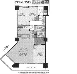 シティタワー23階間取り図_R