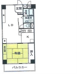 大井町ハウス504号間取り図_R