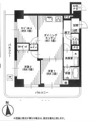 ライオンズマンション大森北210号間取り図_R