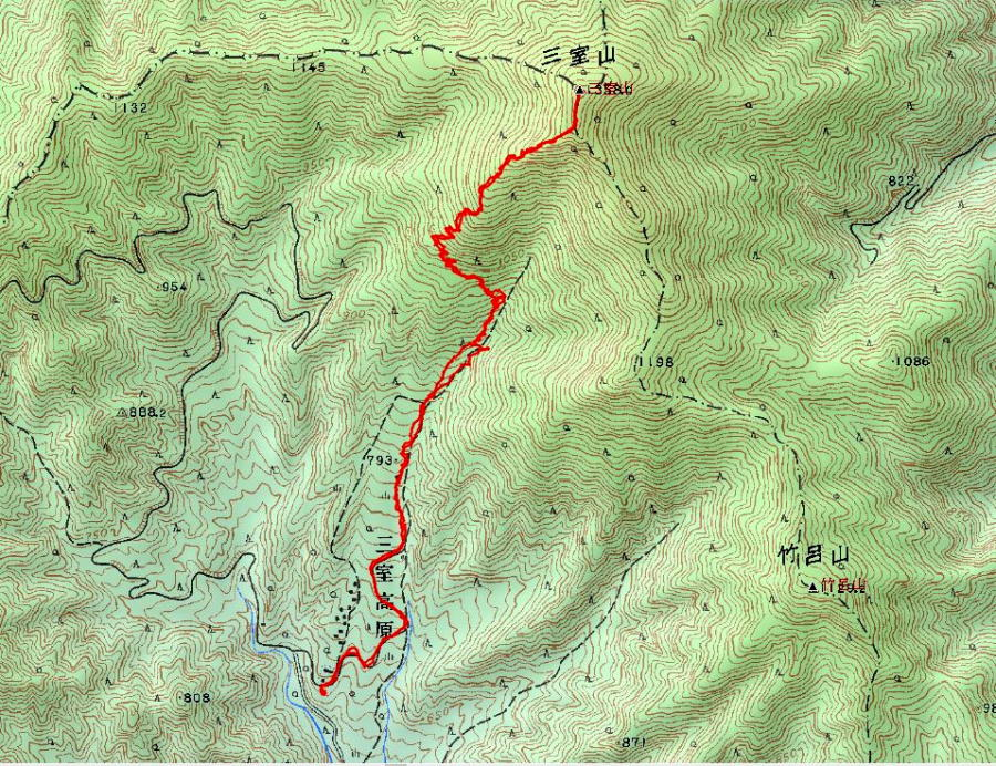 三室山 登山 コース (GPSデータ)