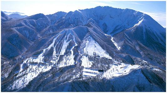 上空からの スキー場