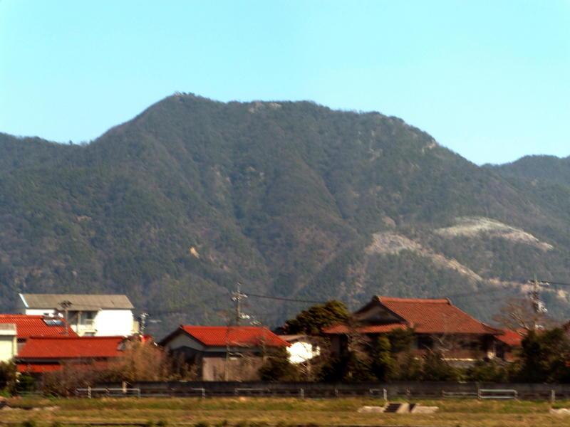 大社 市街地から眺める 弥山 (車窓から)