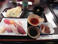 寿司天ぷら定食(¥1030)