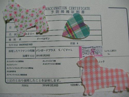 201505208腫混合ワクチン接種証明書①