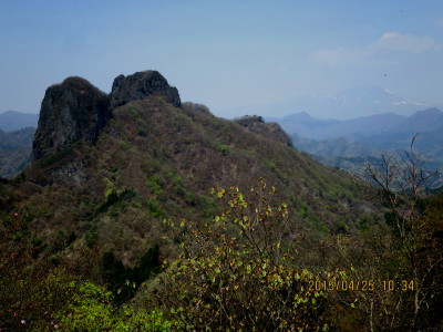 四ツ又山山頂から鹿岳・浅間山