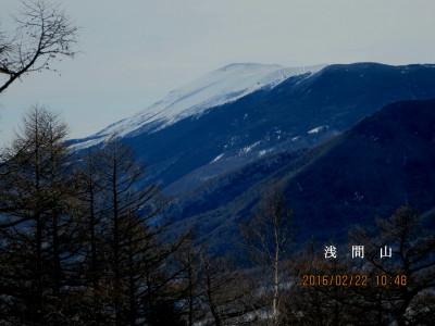 展望台より浅間山