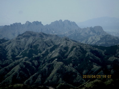 二の岳より妙義山