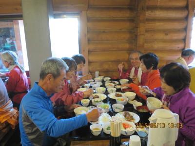 雲取山荘夕食