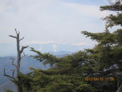 大岩から南アルプス(2012415撮影)