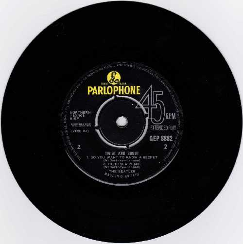 The Beatles Twist And Shout EP Side2 Label