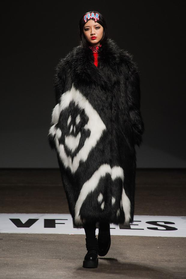 HYEIN SEO GHOST FACE FUR COAT