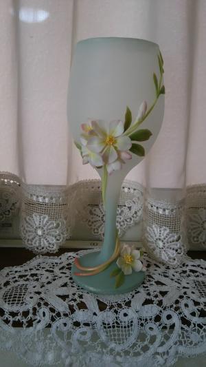 粘土リンゴの花フレスコ2015.5.28