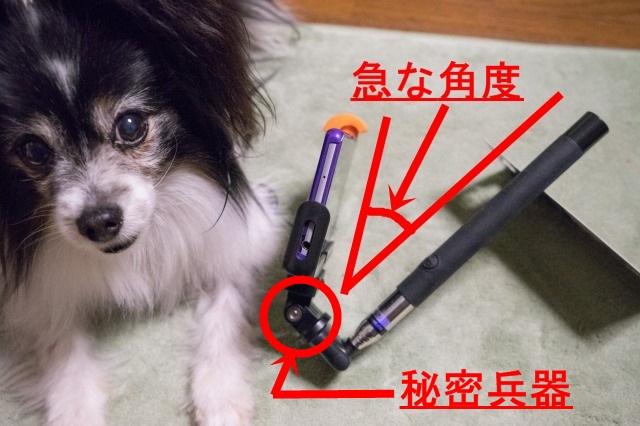 自撮り棒に秘密兵器を装着して「ワンコ目線動画」-002