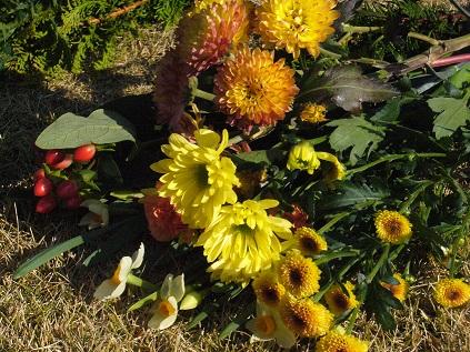 お墓参りお花