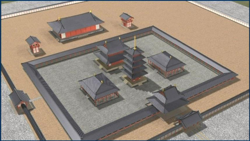 2-4 飛鳥寺伽藍模型