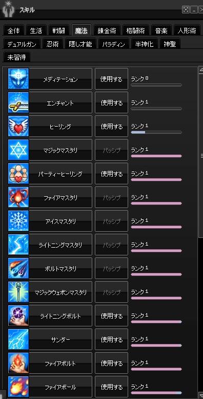 2015-01-28 累積13000・魔法スキル1