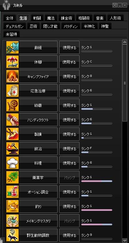 2015-01-28 累積13000・生活スキル
