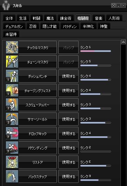 2015-01-28 累積13000・格闘術スキル