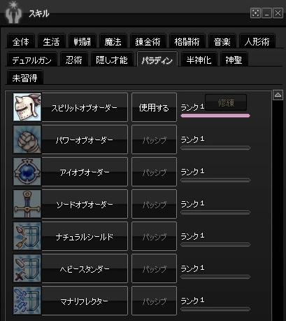 2015-01-28 累積13000・パラディンスキル