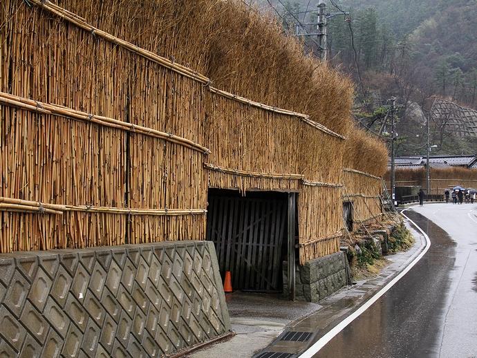 輪島市大沢 間垣の里の集落風景