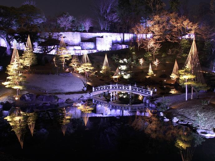 玉泉院丸庭園ライトアップ「三つの灯り・月見の庭」