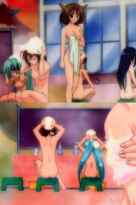円盤皇女ワるきゅーレ1期 子供ハイドラと七村秋菜の全裸入浴シーン50