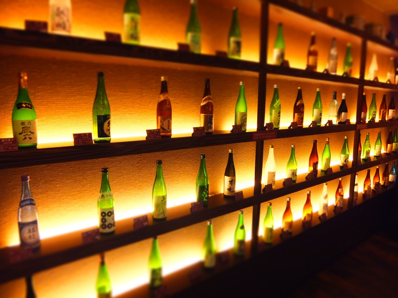 月岡温泉 「蔵」 酒いっぱい