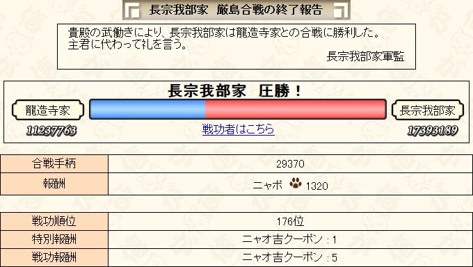 3月合戦結果