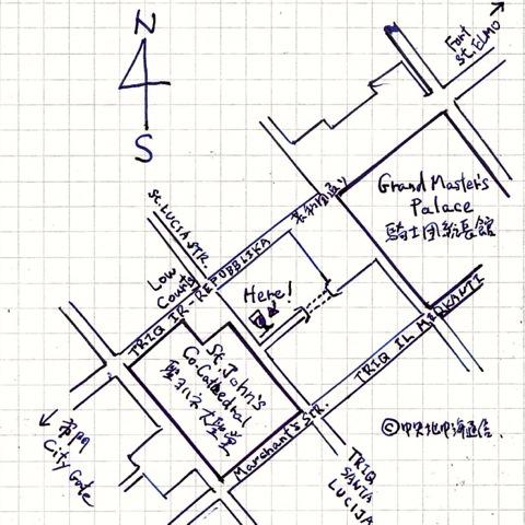 ヴァレッタ エルール 地図 Valletta Ellul map plan