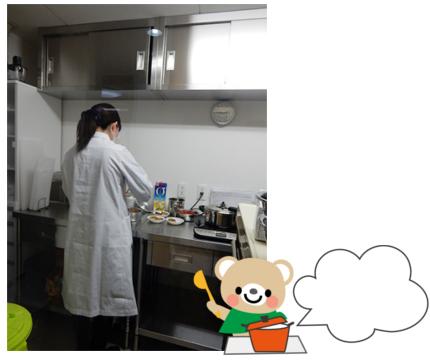 調理室初稼働・給食試食②