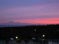 富士山と海と夕焼け