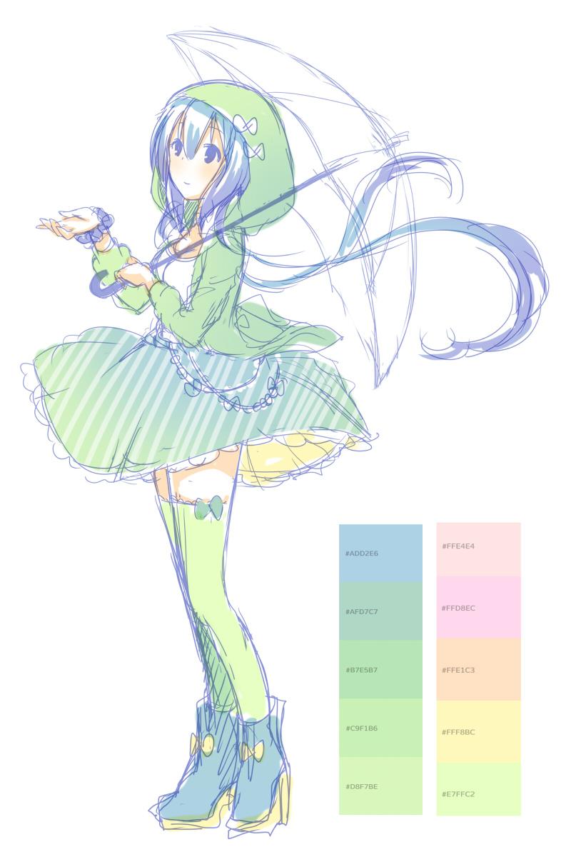 キャラデザ青緑