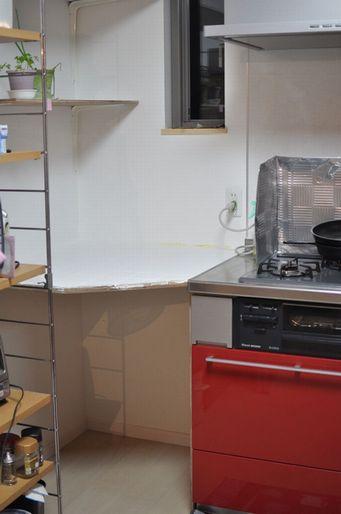 DIYキッチン作業台