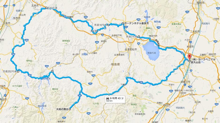 大桃の舞台ツーリング地図