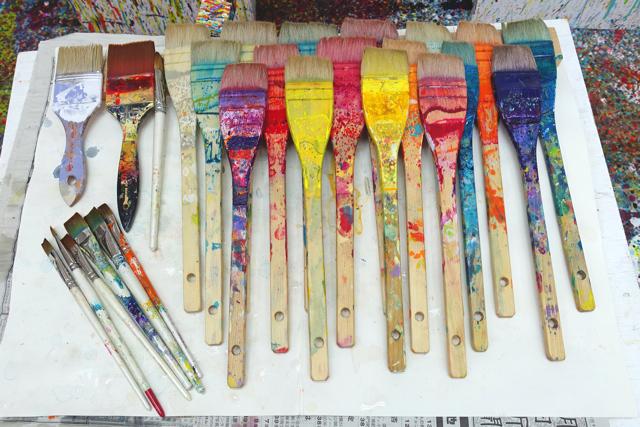 筆洗いの儀nakajimamugi中島麦2015