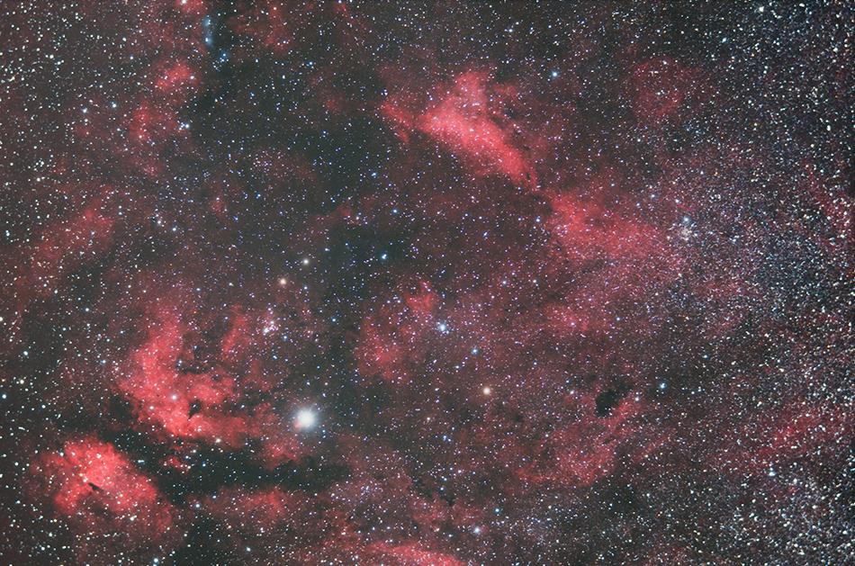 はくちょう座の散光星雲群