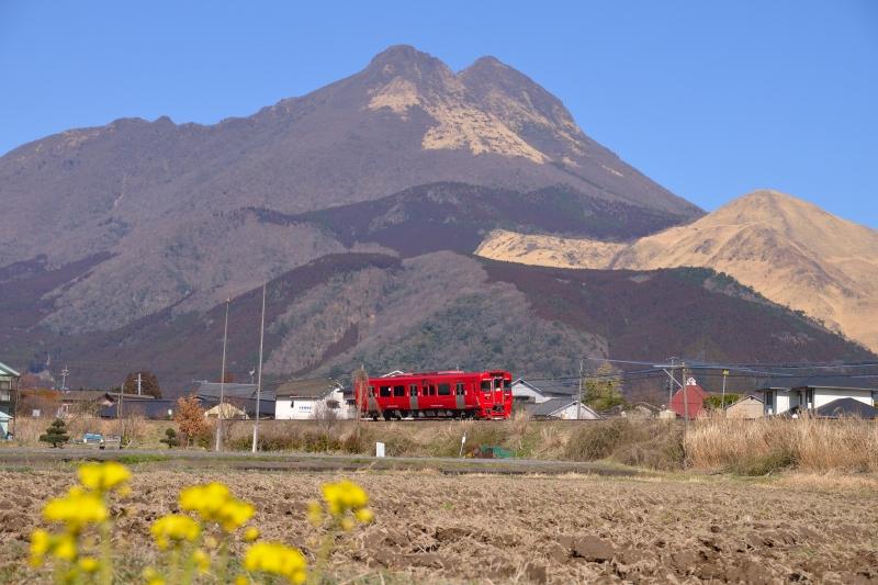 由布岳と列車 (6)
