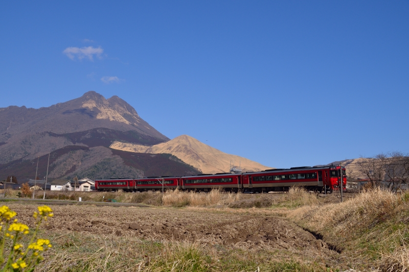由布岳と列車 (5)