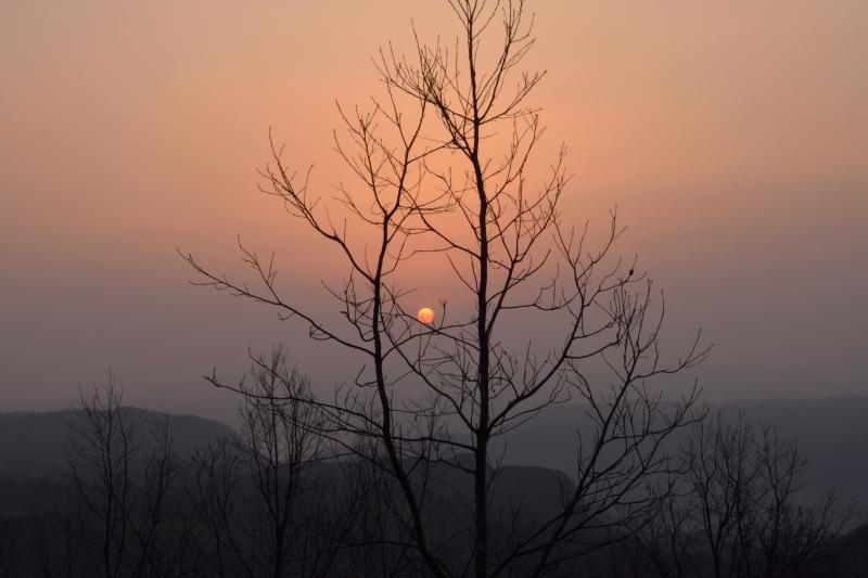 月出山の夜明け (6)