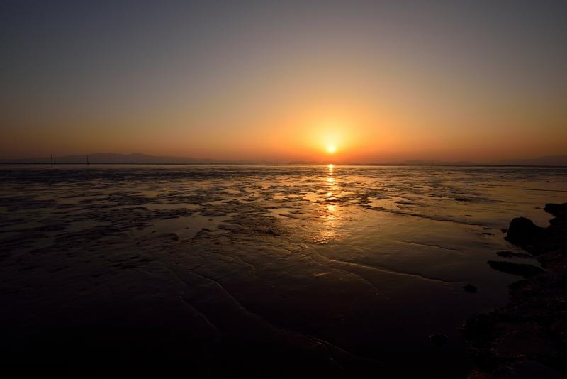 柳川の夕日 004