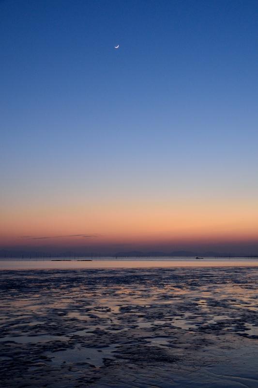 柳川の夕日 014