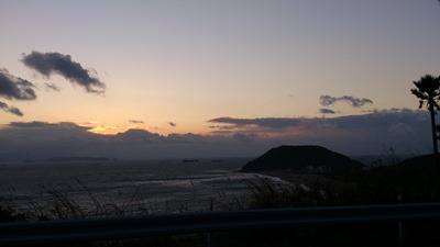 恋路が浜に沈む夕日131
