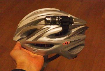 ヘルメットライト単3電池1本式