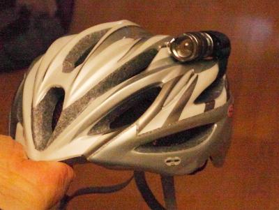 ヘルメットライト単三電池正面