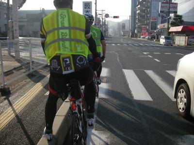 呉市街地で信号待ち