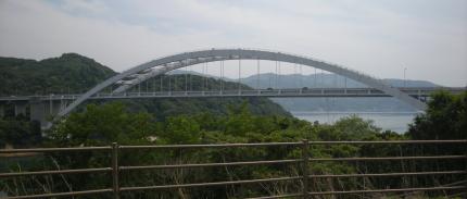 大三島橋を大三島から