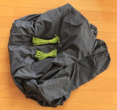 モンベルコンパクト輪行バッグの付属品一式