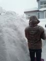玄関前の雪