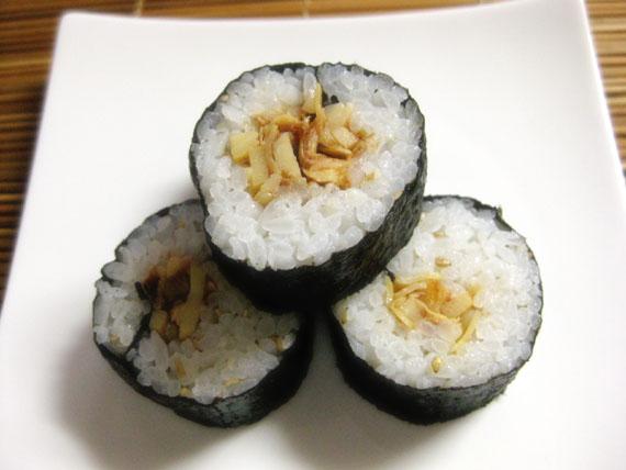 タケノコと梅の巻き寿司07